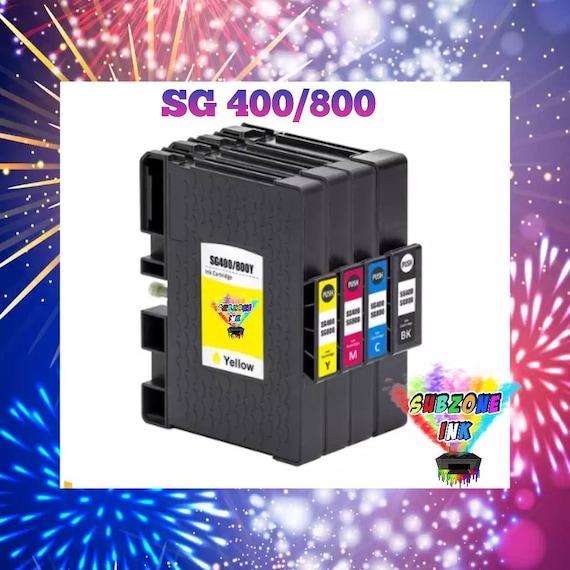 SubZone Ink Sawgrass 400/800 Compatible Cartridge Set (CMYK) Non-OEM