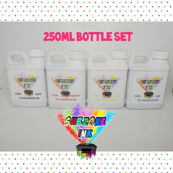 SubZone Ink 4 Color Ink for Epson Printers (250ml bottles)