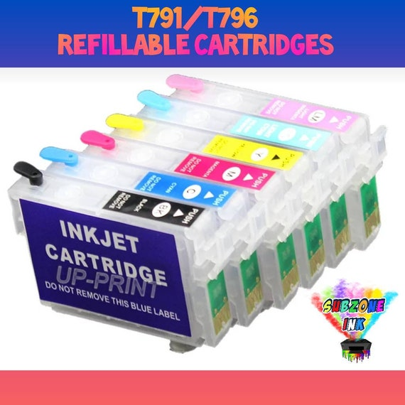 T791/T796 Refillable Cartridges for Epson Artisan 1430/Stylus 1400 with Auto Reset Chip