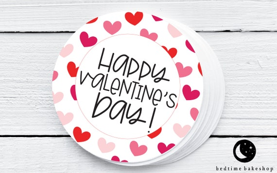 Printable Valentine's Day Cookie Tags  Happy