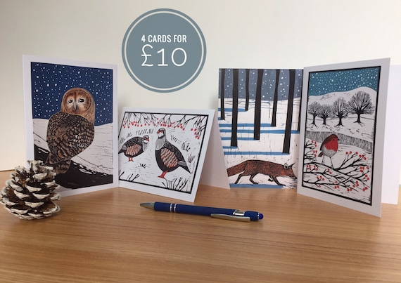Pack of 4 Christmas cards.