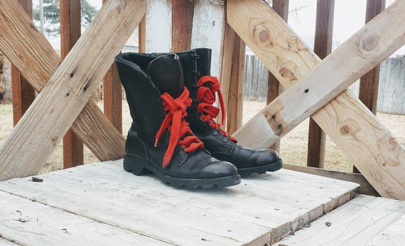 Vintage military combat boots, Ro Search combat bo