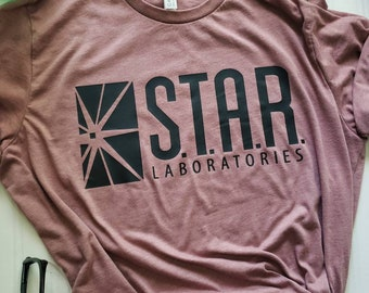 The Flash Star Labs Laboratories DC Comics Licensed Adult T Shirt