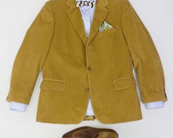 b8a077bed Hugo Boss Camel Brown Corduroy 3 Button Blazer Jacket Size EU 52 R, US 42 R