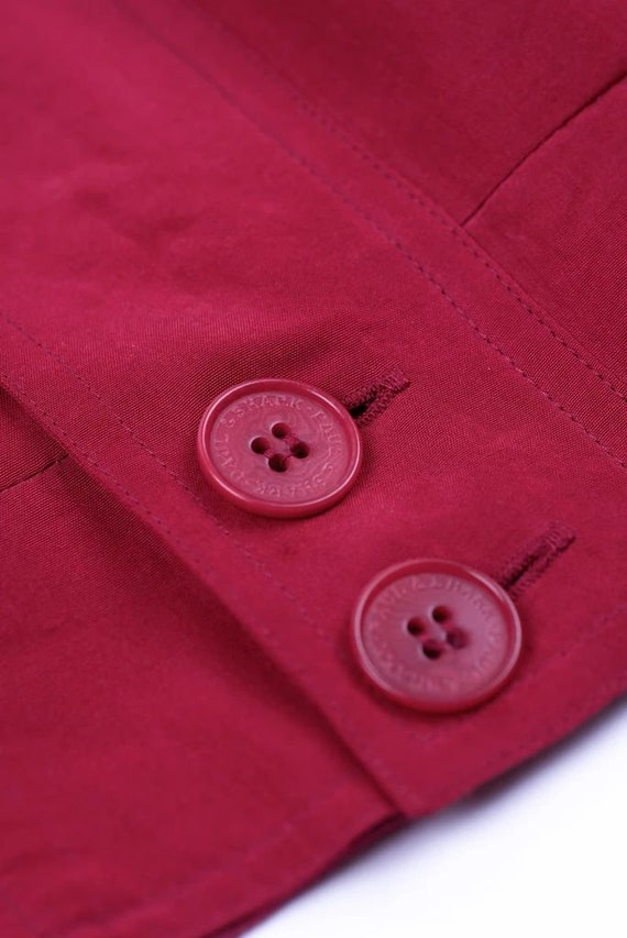Paul & Shark Yachting Men's Red Silk Bomber Jacke… - image 8