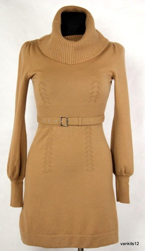 Karen Millen Wool Blend Long Sleeve Knit Dress SIZ