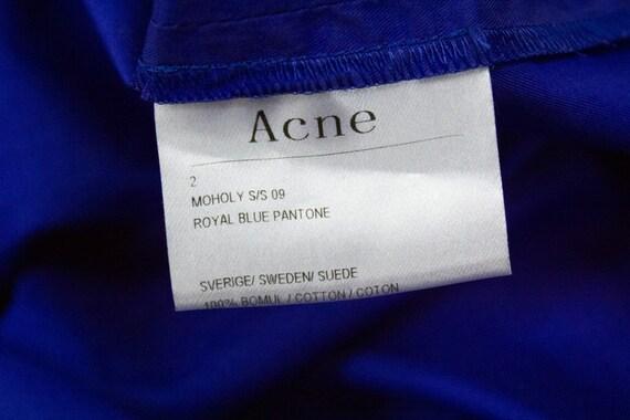 "ACNE ""Moholy"" blue draped skirt, S - image 7"