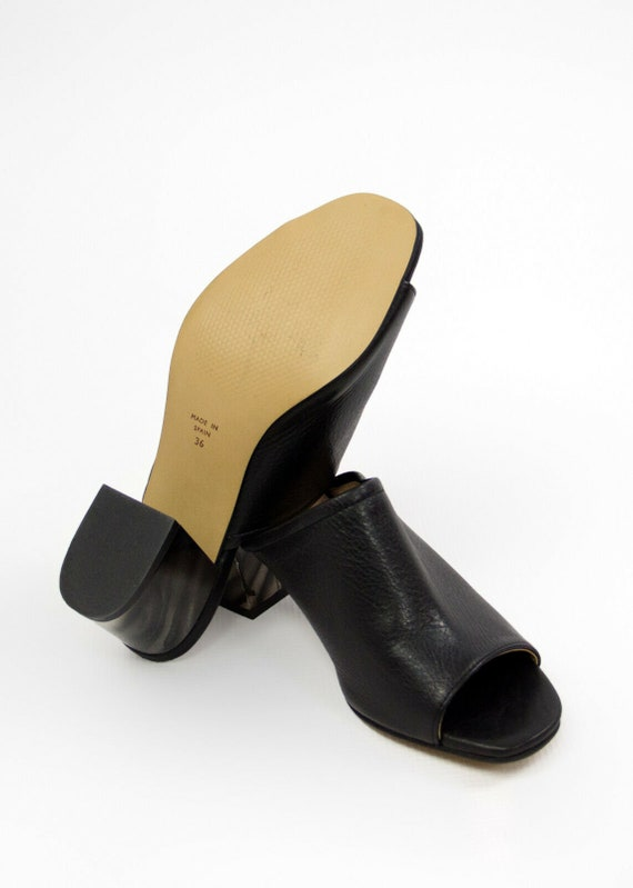 KURT GEIGER Black Block Heel Mules, EU 36, US6, U… - image 6