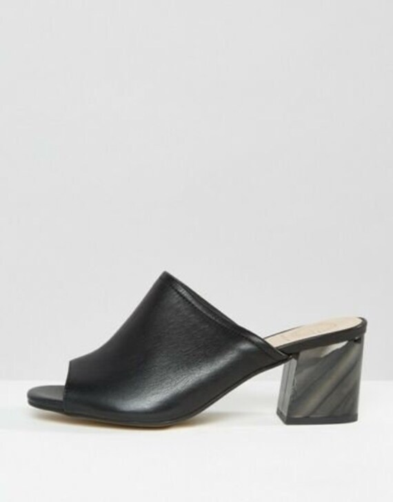 KURT GEIGER Black Block Heel Mules, EU 36, US6, U… - image 2