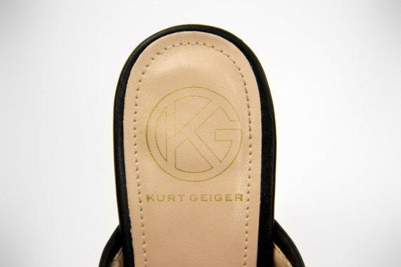 KURT GEIGER Black Block Heel Mules, EU 36, US6, U… - image 8