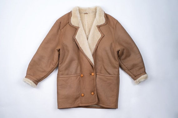 Light Brown Woman's Double Breasted Shearling Coco