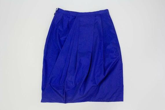 "ACNE ""Moholy"" blue draped skirt, S - image 4"