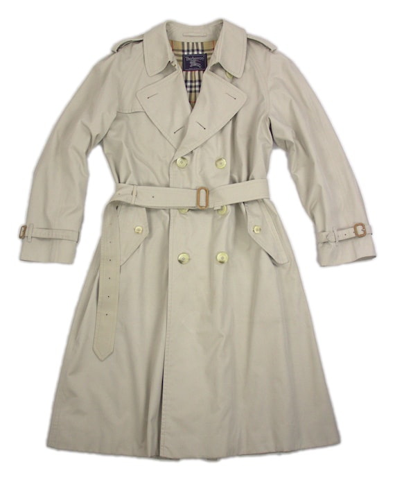 Burberry Vintage Light Beige Trench Coat Size 44R