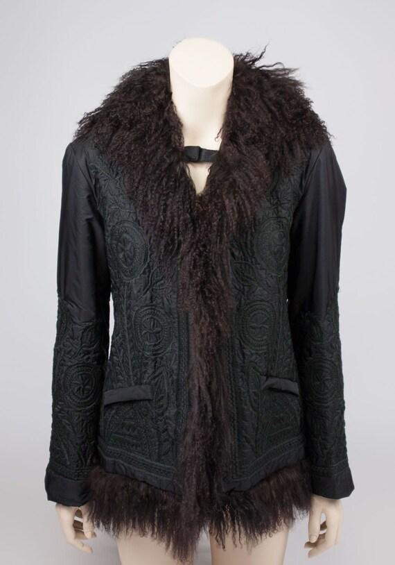 Ermanno Scervino Fur Trimmed Hooded Jacket, Size U
