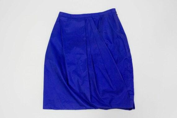 "ACNE ""Moholy"" blue draped skirt, S - image 2"