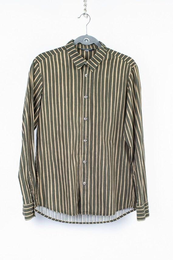 Marimekko Slim Fit Jokapoika Striped Green Shirt,