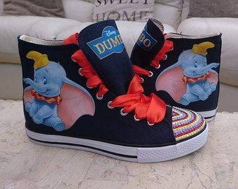 ecfb81aba39f Personalised Kids   Adult Dumbo Shoes Custom High Tops Low Tops Pumps