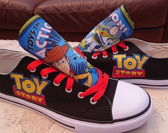 new concept 691ec 6f3e7 Custom Kids Shoes Adult Toy Story Sneakers Woody Buzz High Low Tops  Personalized Mens Ladies Pumps