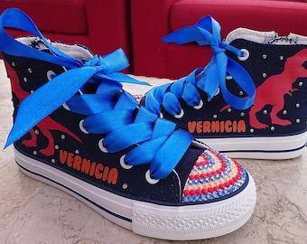 74c7ea457e8b Personalised Kids   Adult Shoes Dinosaur High Tops Custom Pumps Low Tops