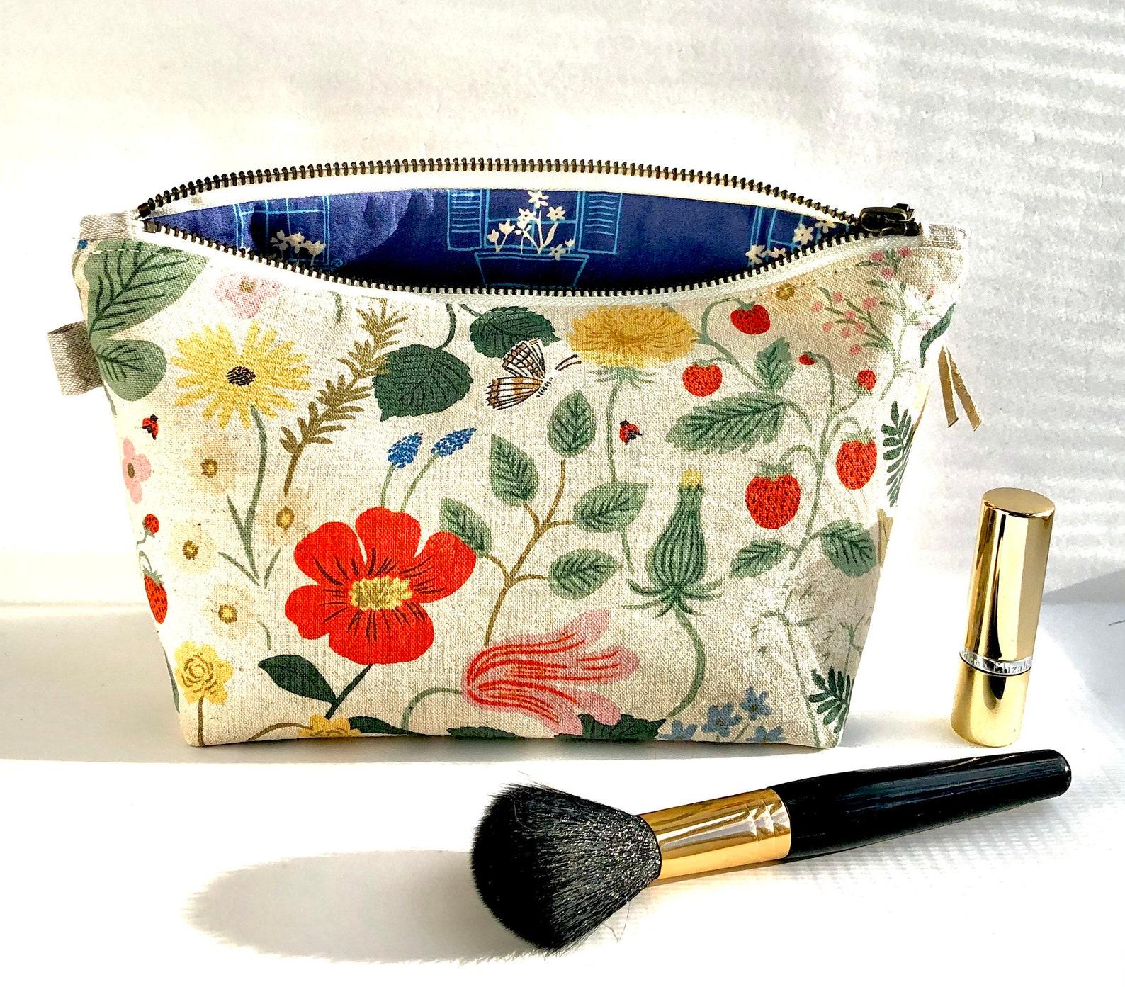 rifle paper floral linen canvas with essex linen medium