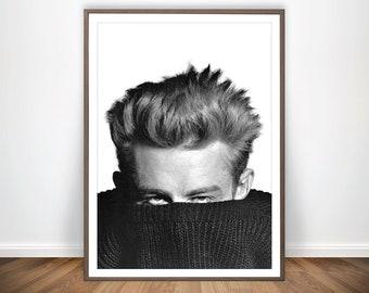 87f33fc28b0a1f James Dean poster James Dean afdrukken acteur poster James Dean kunst mens  Fashion poster retro Movie Poster Old Fashion print James Dean muur kunst