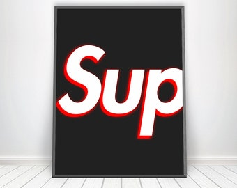 Supreme Print Art Wall Hypebeast Poster Hype Beast Decor Box Logo Decorations
