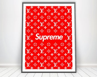 1b90ce68764b Louis Vuitton Print Supreme Louis Vuitton Poster LV Inspired Supreme Decor LV  Monogram Supreme Print LV Wall Art Supreme Poster Supreme Art