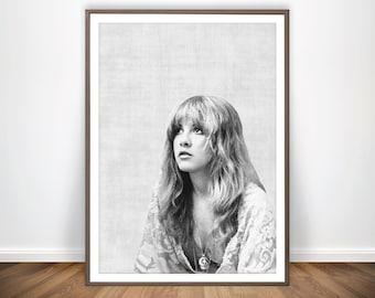 34f3a4b2e Stevie Nicks Print • Fleetwood Mac Poster Stevie Nicks Poster Fleetwood Mac  Art Woodstock Rock Music Art 1970s Rock Poster Stevie Nicks Art
