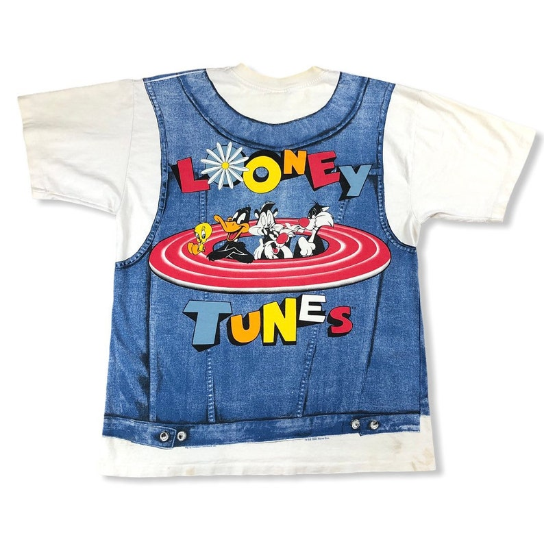 Vintage 1996 Looney Tunes All Over Print T-shirt