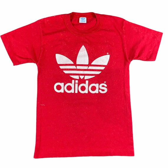 Vintage 1970s Red Adidas Trifoil T-shirt