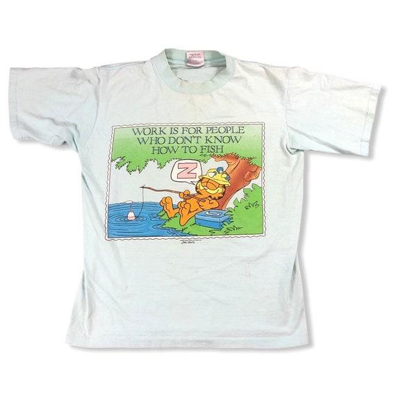 Vintage 1970s Garfield Fishing T-shirt