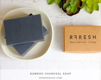 Natural Activated Charcoal Soap | Handmade Soap by RFRESH | Vegan · Eco-friendly · Zero Waste · Cruelty Free · Cold Process