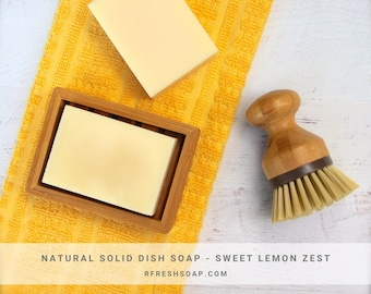 Solid Dishwashing Soap |  Natural Solid Dish Soap by RFRESH |  Zero Waste · Eco-friendly · Vegan ·  Kitchen Cleaner