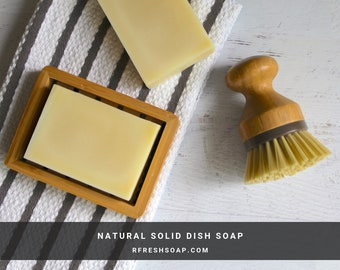 Solid Dishwashing Soap| Natural Solid Dish Soap by RFRESH | Zero Waste · Eco-friendly · Plastic Free · Non Toxic · Kitchen Cleaner