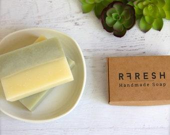 Rosemary + Bergamot Soap w/ Green Zeolite Clay  | Handmade Soap by RFRESH | Vegan · Eco-friendly ·  Zero Waste · Cruelty Free