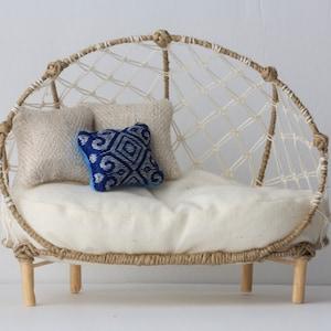 modern couch design interior furniture Handm,ade 112 1:12 minicouch Modern miniature dollhouse sofa couch yellow corduroy