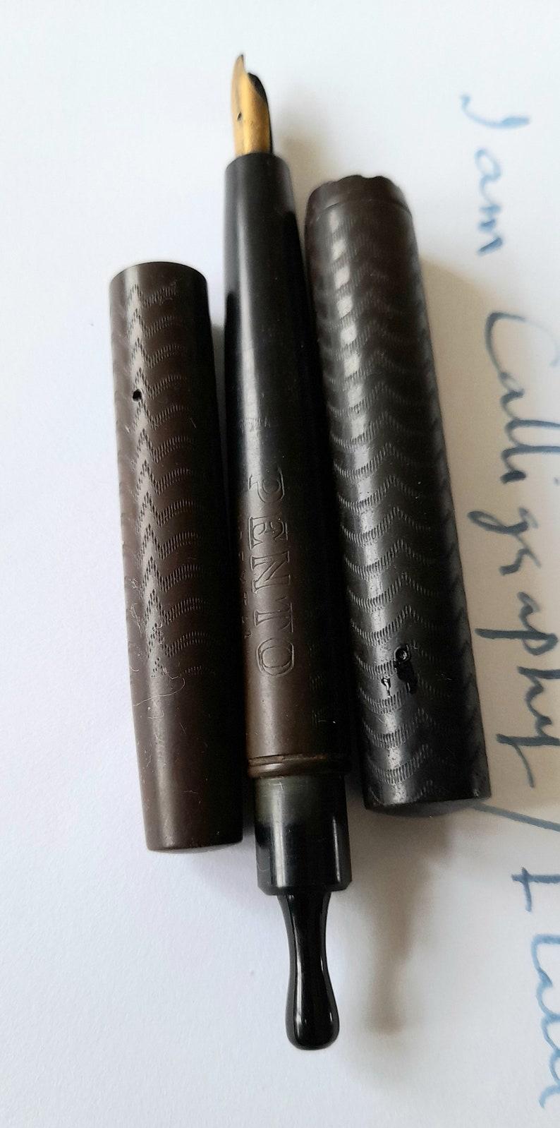 Antique Pento Dexta Hard Rubber Eyedropper Fountain Pen