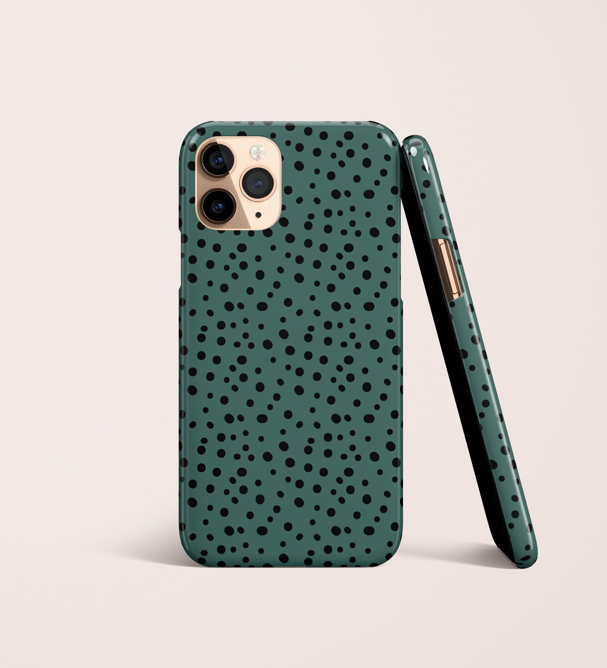 Polka Dots Green Animal Print Phone Case,iPhone 20 Pro Max 20 X 20 20 20  Samsung S20 S20 S20 S20+ S20 S20 S20 S20 Note J20 J20 A201 A201 Google Pixel