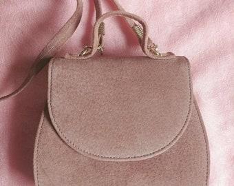 e7a79cf350 Vintage 1970's Boho Brown Suede Handbag Made in Canada