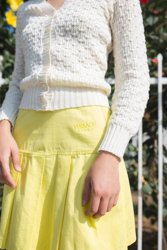 Vintage Versace Sport Yellow Tennis Skirt