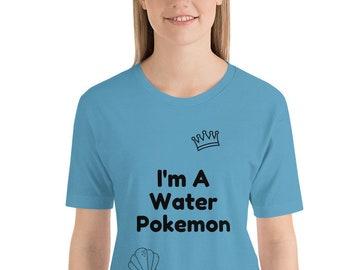 2f21e334 Water Pokemon Short-Sleeve Unisex T-Shirt Blue