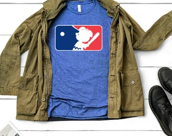 44f7a3bf8 MLB logo, Charlie Brown Snoopy Baseball - custom baseball shirt