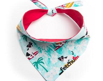 Fetchum reversible dog bandana easter white snoopyblue personalized free