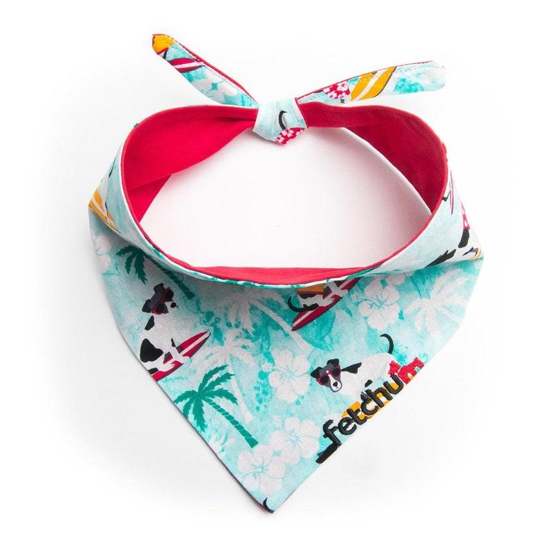 Fetchum reversible dog bandana surfs upred personalized free