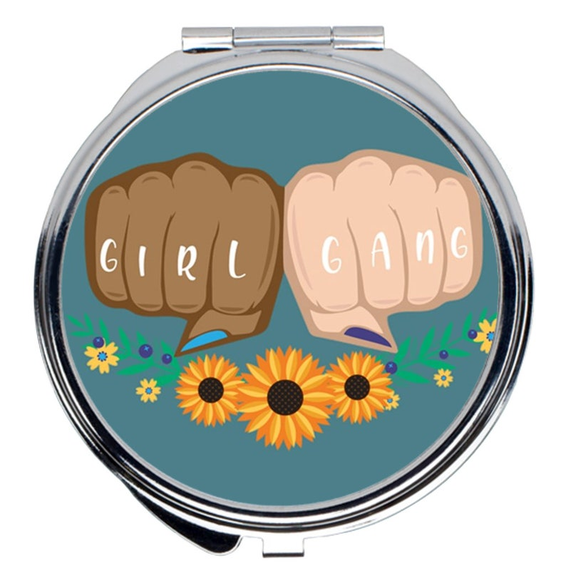 Feminist Mirror Feminist Gifts For Her Feminist Compact Mirror Feminist Accessories Feminist Make Up Girl Gang Compact Mirror