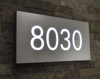 Led House Number Etsy