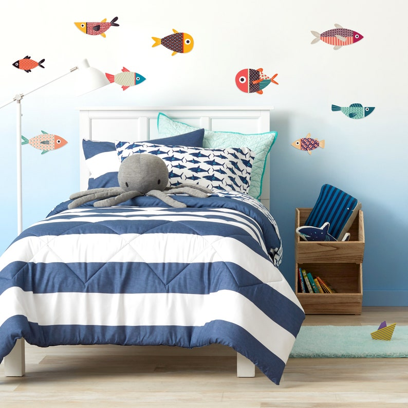 Wall Decals Murals Stickers Free Shipping Wall Decor Mid Century Modern Fish