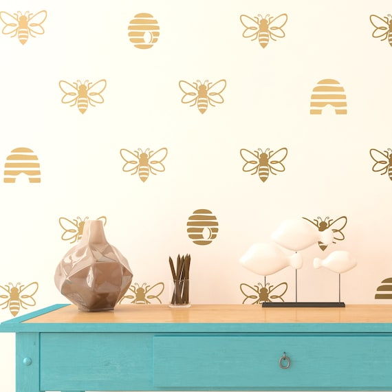 Save The Bees Wall Decals Bee Hive Wall Decals Stickers Etsy