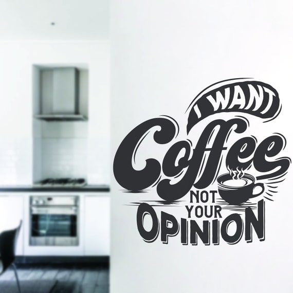 Coffee Coffee Quotes Coffee Decals Kitchen Decor Wall Etsy