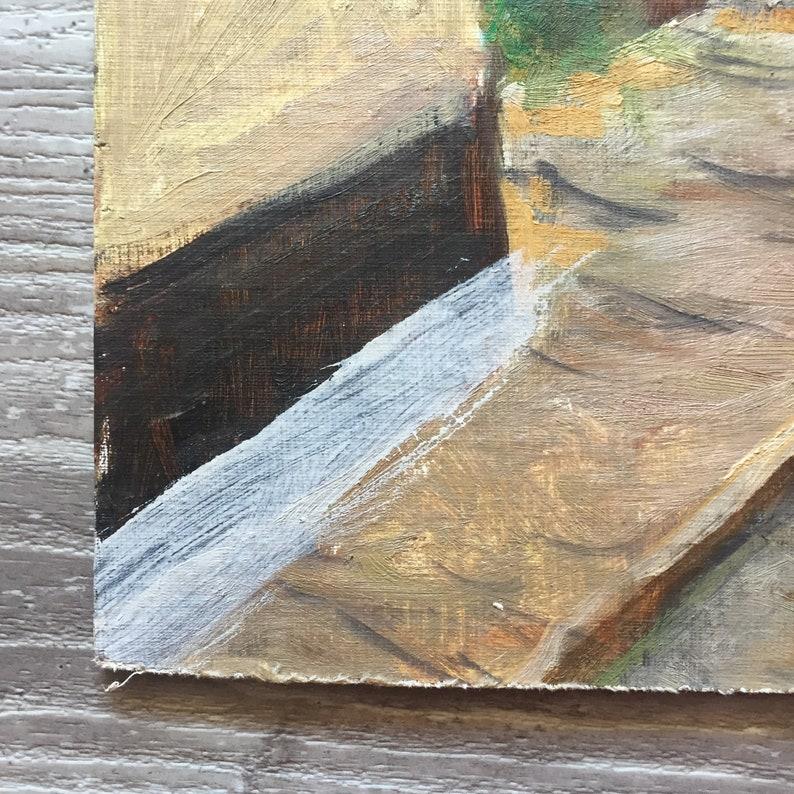 Original Vintage Oil Painting Large 18X22 Unframed Art Wall Home Decor